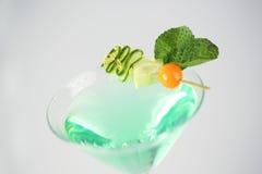 Cóctel verde y fresco delicioso Imagenes de archivo