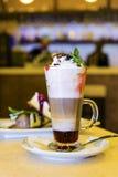 Cóctel y crema del café Foto de archivo libre de regalías