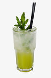 Cócteles alcohólicos verdes con arugula imagen de archivo libre de regalías