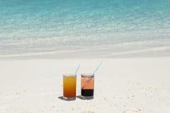 Cócteles en los Maldivas Fotografía de archivo libre de regalías