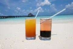 Cócteles en los Maldivas Fotos de archivo libres de regalías