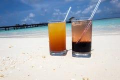 Cócteles en los Maldivas Imagen de archivo