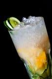 Cócteles sin alcohol fríos con hielo imagen de archivo