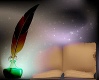 Códice y pluma Imagen de archivo