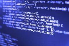 Código abstracto de la escritura del ordenador fotografía de archivo