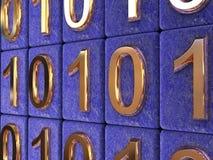 Código binário. Imagens de Stock