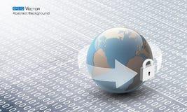 Código binário abstrato com globo Imagem de Stock Royalty Free