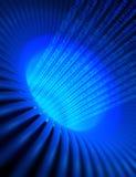 Código binário azul ilustração do vetor