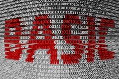 Código binário básico Imagem de Stock