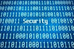 Código binário com a segurança da palavra Fotografia de Stock Royalty Free