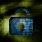 Código binário de descriptografia com as chaves Imagens de Stock