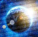 Código binário no de alta tecnologia Foto de Stock