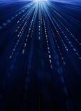 Código binário no movimento Imagens de Stock