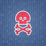 Código binário perigoso Imagem de Stock
