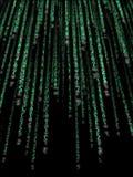 Código binário verde Imagem de Stock