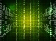 Código binário verde no preto Fotografia de Stock Royalty Free
