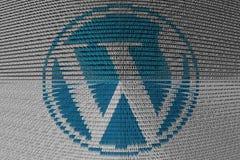 Código binário WordPress Fotografia de Stock