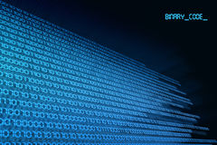 Código binário zero & um Foto de Stock Royalty Free