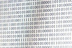 0,1, código binario Fotografía de archivo