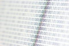 0,1, código binario Fotos de archivo