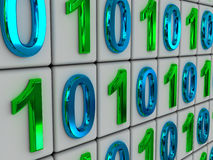 Código binario. Fotografía de archivo libre de regalías