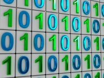 Código binario. Imagen de archivo libre de regalías