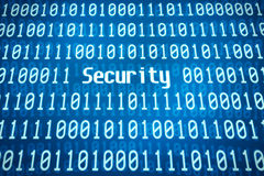 Código binario con la seguridad de la palabra Fotografía de archivo libre de regalías