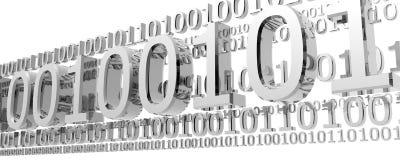 Código binario con las líneas digitales Imágenes de archivo libres de regalías