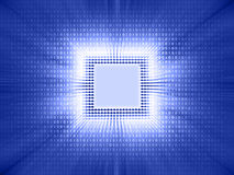 Código binario de la viruta ilustración del vector