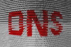 Código binario DNS Fotografía de archivo libre de regalías