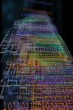 Código binario que sale en Cyberspace libre illustration