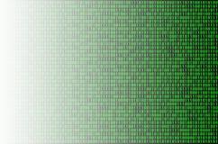 Código binario verde Fotos de archivo libres de regalías