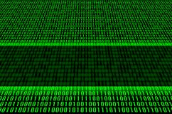 Código binario verde Imagen de archivo libre de regalías