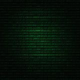 Código binario verde en fondo negro Fondo del ejemplo del vector del código de ordenador Foto de archivo
