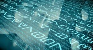 Código cibernético de la escritura de la seguridad, algoritmos del ordenador libre illustration