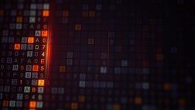 Código cifrado Digitas no monitor do computador Fotografia de Stock Royalty Free