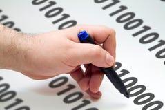 Código da escrita Imagens de Stock