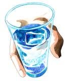Código de agua Foto de archivo