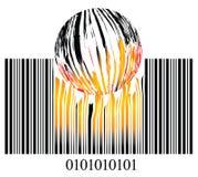 Código de barra ardente ilustração stock