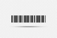 Código de barras - ícone do vetor Código de barras no fundo transparente Imagem de Stock Royalty Free