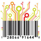 Código de barras abstrato. Vetor. ilustração stock