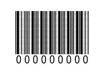 Código de barras binario Fotos de archivo libres de regalías