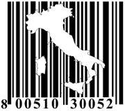 Código de barras com esboço de Italy Fotografia de Stock