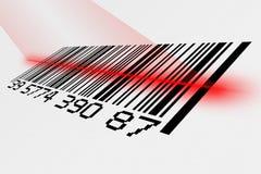 Código de barras com laser fotos de stock