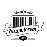 Código de barras com logotipo da fita Imagens de Stock