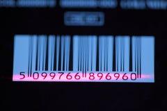 Código de barras com tira do laser Fotos de Stock Royalty Free
