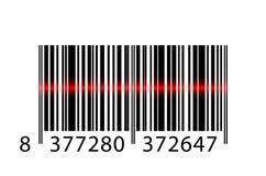 Código de barras con de rayo láser stock de ilustración