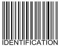 Código de barras de la identificación Imagen de archivo libre de regalías