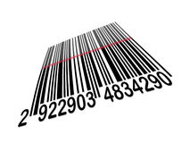 Código de barras de la perspectiva Imagen de archivo