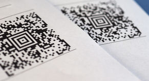 Código de barras del código de QR Imágenes de archivo libres de regalías